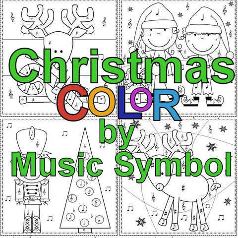 Christmas Color by Music Symbol