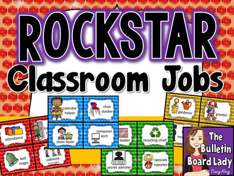 Classroom Jobs - Rock Star Theme