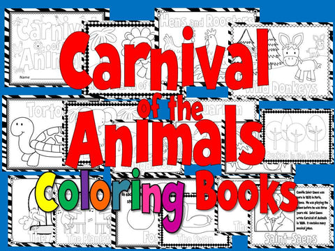 Carnival of the Animals Coloring Book