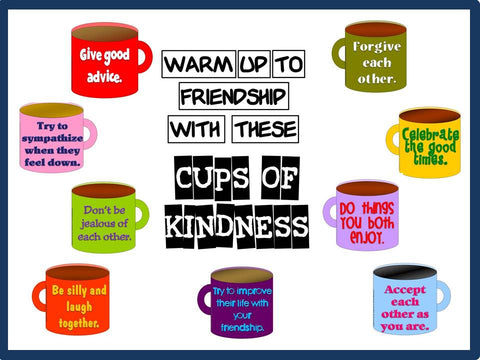 Cups of Kindness - Friendship Bulletin Board