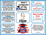 Elgar Composer of the Month (June) Bulletin Board Kit