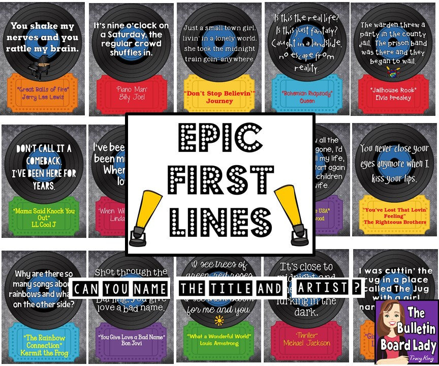 Epic First Lines Music Bulletin Board The Bulletin Board