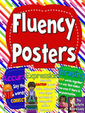 Fluency Posters Bulletin Board Rainbow Design