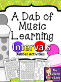 Dabber Activities for Music Class – INTERVALS