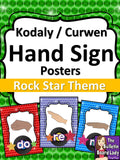 Kodaly Curwen Hand Signs – Rock Star Theme