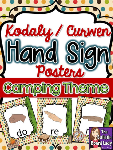 Kodaly Curwen Hand Sign Posters