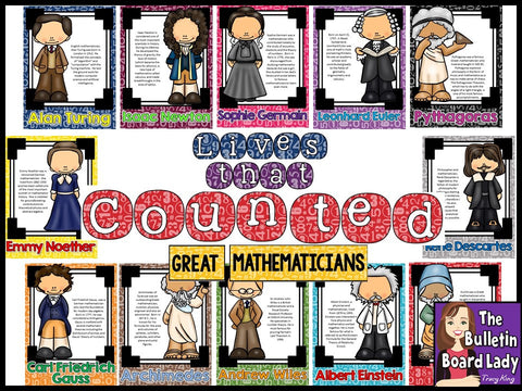 Lives That Counted - Great Mathematicians Bulletin Board
