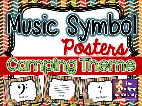 Music Symbol Posters - Camping Theme
