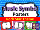 Music Symbol Posters – Rock Star Theme