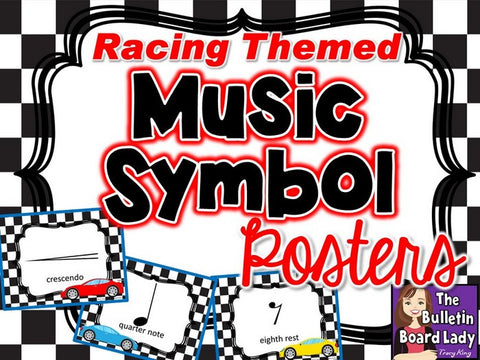 Music Symbol Posters - Racing Theme