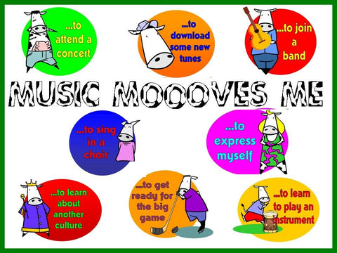 Music MOOOves Me Bulletin Board Kit