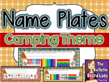 Name Plates - Camping Theme