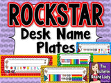 Student Name Plates - Rock Star Theme