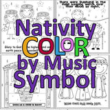 Nativity Color by Note