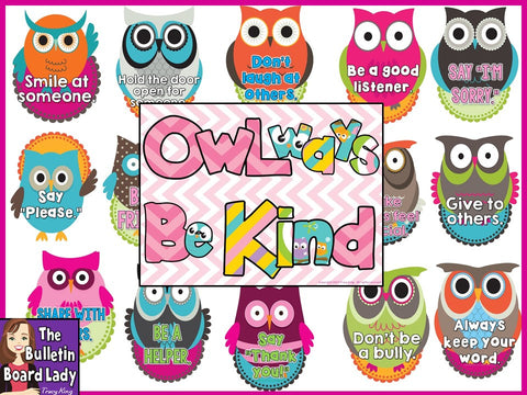OWLways Be Kind Bulletin Board