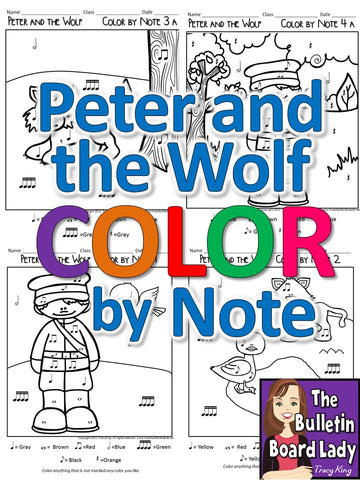 Peter and the Wolf Color by Note