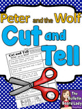 Peter and the Wolf Cut and Tell Worksheet