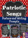Patriotic Songs Posters and Writing Prompts