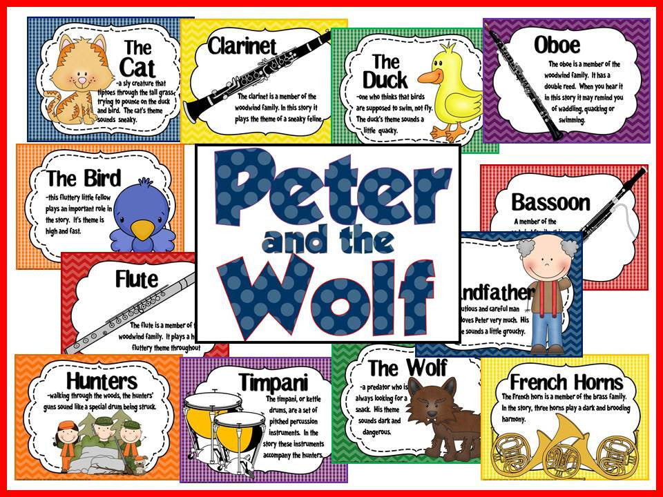 Classroom Decor Bundles ~ Peter and the wolf bulletin board lady