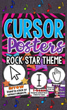 Cursor Cues Posters for Computer Lab Rock Star Theme