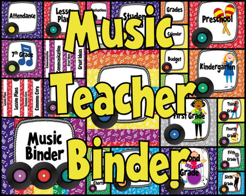 Teacher Binder - Rainbow Records