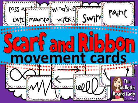 Scarf and Ribbon Movement Cards