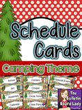 Schedule Cards - Camping Theme