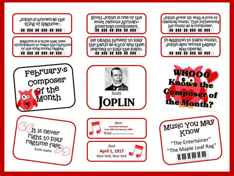 Scott Joplin Composer of the Month (February) Bulletin Board