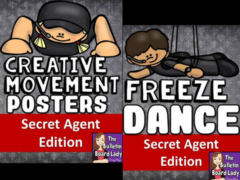 Secret Agent Freeze Dance and Creative Movement