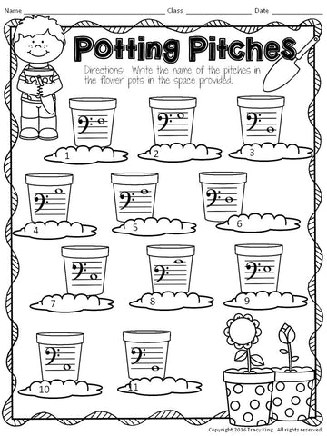 No Prep Music Worksheets for APRIL – The Bulletin Board Lady