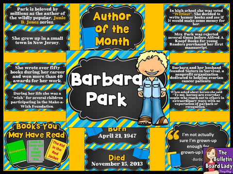 Author of the Month Barbara Park