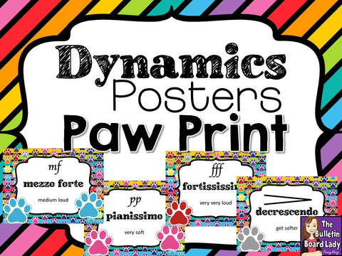 Dynamics Posters Paw Prints Theme
