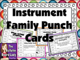 Instrument Family Punch Cards