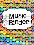 Music Teacher Binder – Paw Print Theme