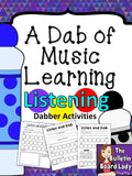 Dabber Activities for Music Class –Listening Journals