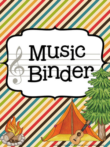 Music Teacher Binder – Camping Theme