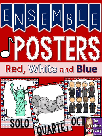 Ensemble Posters – Patriotic Red White and Blue Theme