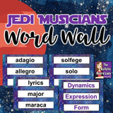 Music Word Wall - Jedi Musicians