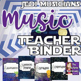 Music Teacher Binder Jedi Musicians
