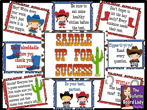 Saddle Up for Success Test Taking Bulletin Board
