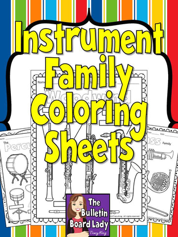 Instrument Coloring Sheets
