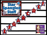 Treble Clef Bulletin Board Display Red White and Blue
