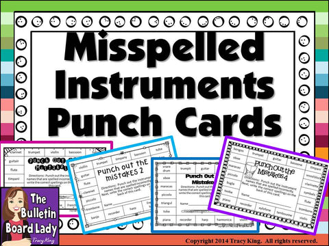 Misspelled Instrument Punch Cards