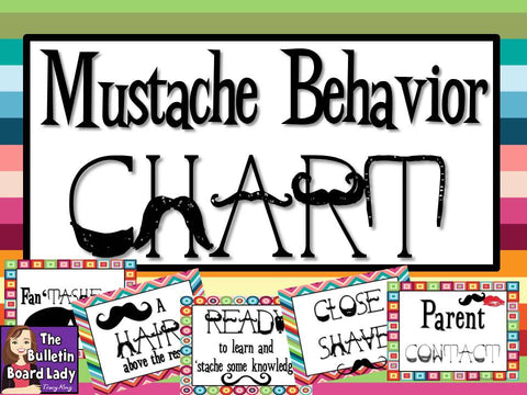 Your Behavior is a Big HAIRY Deal - Mustache Behavior Chart
