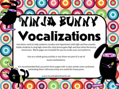 Vocal Explorations/Singing Visual Aids: Ninja Bunnies