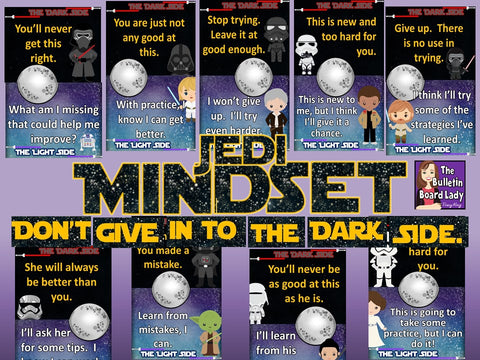 Growth Mindset Bulletin Board Jedi Mindset