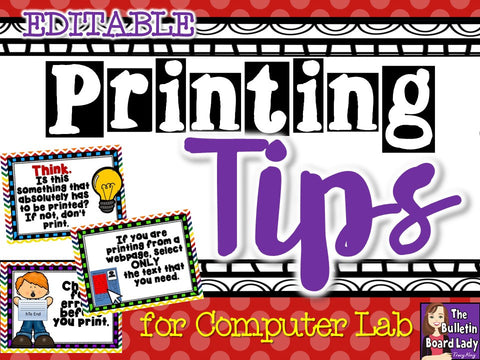Printing Tips Posters for Computer Lab