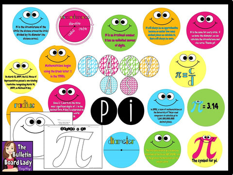 Pi Day Math Bulletin Board