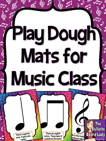 Play Dough Mats for Music Class