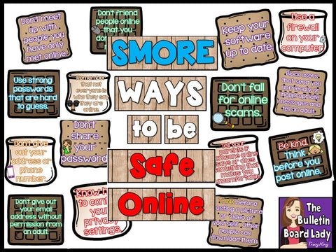SMORE Ways to Be Safe Online Computer Bulletin Board – The